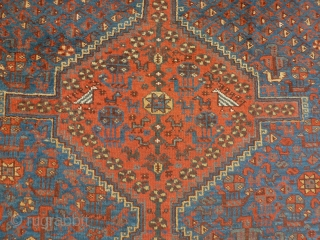 Antique South persia 205 X 172 cm. All vegetal color, good condition.