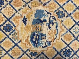 beautiful Ningxia rug 18th century size 150x80