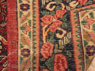Beautiful bijar gol farang antique size 270x160