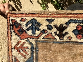 """An early N.W. Persian, Kurdish small rug  3'4"""" X 5'8""""  Ca.1800  An amazingly graphic design, beautiful early drawing of all the different designs in the rug. Folks familiar with  ..."""