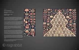 "Lot 9, Senneh Prayer Kilim, Northwest Persia, early 19th century, 162 x 117 cm (5' 4"" x 3' 10""), Auction on November 16 at 4pm, https://www.liveauctioneers.com/item/77289544_senneh-prayer-kilim"