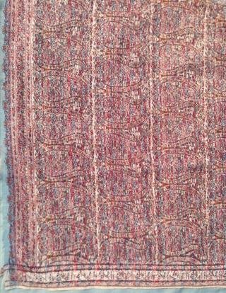 "İndian Kashmir Long Shawl Size 334 160 cm 11'1""x5'3"""