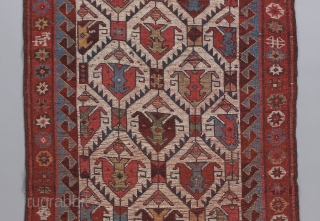 """An early Kurdish runner.  All original and in great condition. Gorgeous wool and colors. 10'1"""" x 3'3"""".   Please view this and many more collectible pieces on our website at: https://www.bbolour.com/all-tribal-and-village-rugs/"""