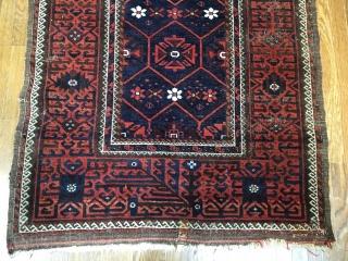 "Baluch Mina Khani rug . 6'4"" x 3'5"","