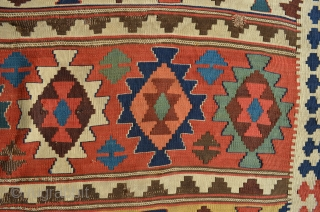 "Shahsavan Kilim. Lovely colors. 9'8"" x 5'6""."