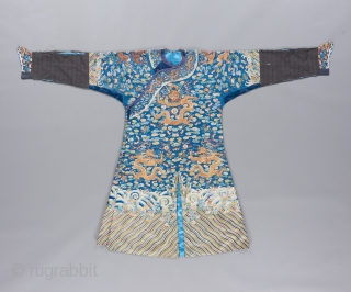 Qing Dynasty Imperial robe of exquisite quality. Please ask for details.   Please visit our website to view a variety of Antique Carpets, rugs, tapestries, textiles and art objects: www.bbolour.com