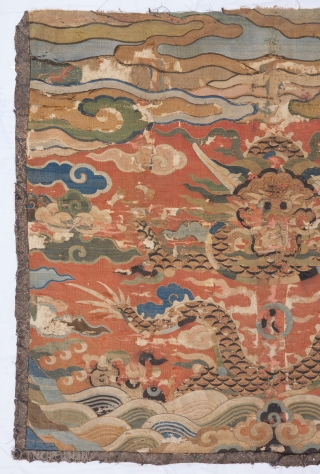"Ming Dynasty Dragon Kesi. 3' x 2'7"". 