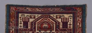 "Shirvan prayer rug. 4'5"" X 3'2""."