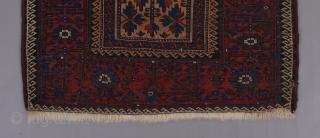 Baluch Mina khani rug. 6' x 3'.
