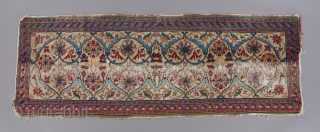 "An early, very rare thing ( 18th? early 19th? ) woven in a rare format. This piece is complete and all original, not a fragment. 6'6"" x 2'3"". Persian or Indian.  ..."
