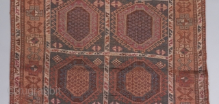 "Unusual and Beautiful East Anatolian rug. 9' x 3'10"". Complete and intact with some wear issues as visible. Some small replied areas. 