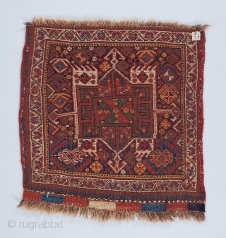 "A Khamseh bag face with good color and soft, shiny wool. Good condition. 2'3"" x 2'2"""