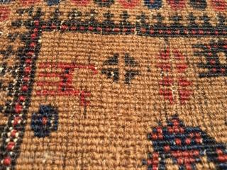 Camel ground Baluch prayer rug.