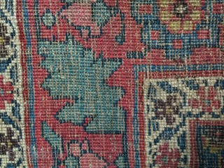 All wool Bidjar runner circa 1900-1910. Size: 3'8 x 18'5. Beautiful natural dyes. Good pile over 90% of the rug. Use as is or low pile areas easily restored. Lies flat and  ...