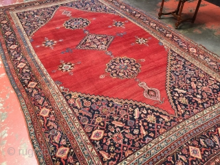Exceptional large South Caucasian Karabagh rug. Size: 7'5x12'6 (228x381cm). Dated 1298 (1880-1881). Excellent condition with very minor restoration. Top notch example. Please contact me for more photos, information, and price. Thanks.