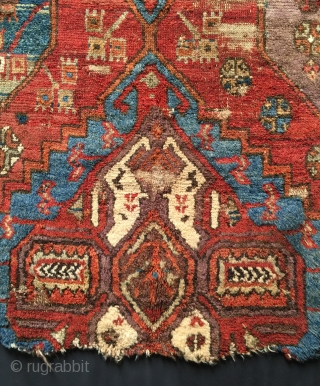 "Karaman fragment mid 19th century. Size: 3'8"" x 3'3"". Thick pile, good colors. More photos and information on asking."
