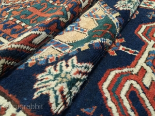 """Antique NW Persian runner dated 1332 (1914). Size: 3'3"""" x 11'8"""". Long fleecy wool pile, rich natural dyes plus a bit of fuchsine. Great condition. Floor ready. More photos and information on  ..."""
