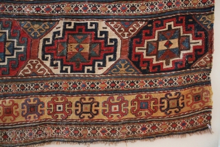 Beautiful Caucasian Sumak Panel. Approximately 33 x 21 inches.