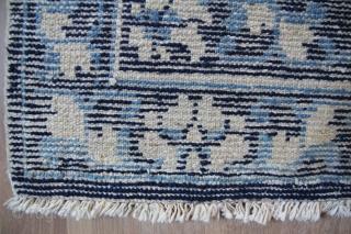 Seat mat China 19th century Wool on Cotton good condition Sitze: 63x61cm