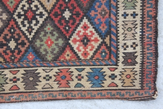 Shahsavan Soumak bagface in very good condition, wool on wool, size 0,61 x 0,57 m