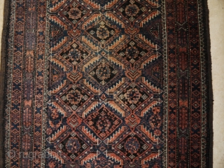 Nice Baluch carpet natural colours and soft velvety pile. 