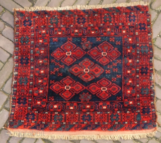 unusual Lori bagface from the beginning of the 20th century, high quality wool with a velvetlike touch, natural colours, full pile but some light traces of wear in the middle and on  ...