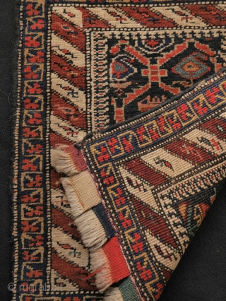 unusual bagface, North west Persia, prob. Kurdish with flowers and boteh in the middle. colours are not (all) natural. condition is good, no wear.  55 x 58