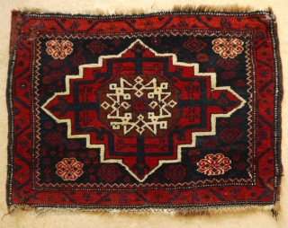 Star medallion bagface, Kirman area, Afshar Baluch.  