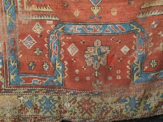 Anatolian Bergama Area Bellini Type Rug. Great scale, soft color with balanced but asymmetric drawing accentuating differences in both top and bottom as well as left and right hemispheres.  There are five  ...