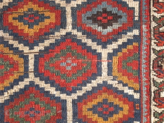 Shahsevan? Luri? bagface with great color and graphic appeal. haven't seen anything quite like this but it is quite attractive. It seems to be Northwest Persian or at least west Persian. When  ...