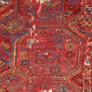 East Anatolian Divan Cover. Red-wefted group, fragmented into three pieces, Super colors, Older than most.