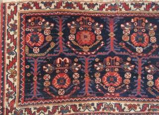 Afshar Bagface, better than most (older than most, more colorful, softer and very pliable, deceptively sophisticated composition) all wool foundation, small rip at top, minor old restoration as can be seen from  ...