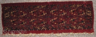 8 Gul Tekke torba. One of only a handful of known examples. Good age, fine weave with classic Tekke drawing. Some cotton highlights including but not limited to the pearl ornamentation above  ...