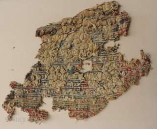 Two more Ancient Carpet Fragment, 3rd - 6th century. Part of the same group of early pile carpet fragments seen in the Al-Sabah Collection. (See Friedrich Spuhler, Pre-Islamic Carpets and Textiles from  ...