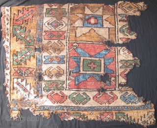 2 Fragments of an Unusual Anatolian Rug with Stars.