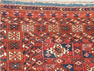 Tekke aina gul chuval, very elegant with at least two distinct shades of insect red, cochineal and perhaps lac? or two cochineals?, silk, cotton, etc. While the aina are the classic variety  ...