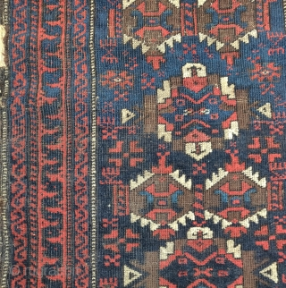 Baluch balisht with great polychromatic blues, Timuri-esque Khorosan group with sort of a kepse/ashik type of design? nice older borders.