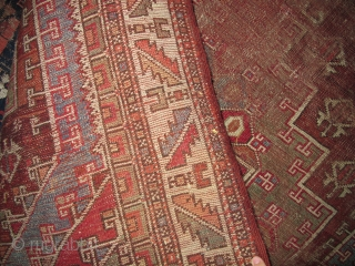 Ghirlandaio Variant Bergama / Ezine West Anatolain Rug, whipped but rather classic looking.