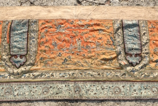 Antique Chinese Silk Embroidery, large size of 50cm x 194cm, nice price $777, UPS shipping on me.