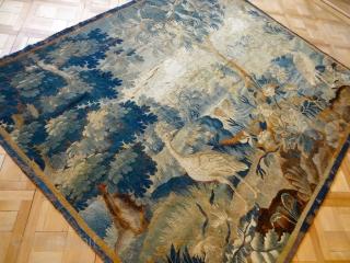 ANTIQUE 17 CENTURY SILK AND WOOL AUBOUSSON TAPESTRY    6' 4 x 7' 6     /    197 x 234 cm   Direct Contact Info: Bernard Zarnegin Interiors, Seestrasse  ...
