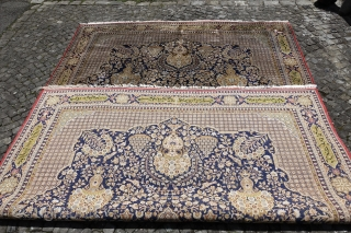 Online Auction ends this Sunday 4th of June, 100% Silk Ghom Carpet,