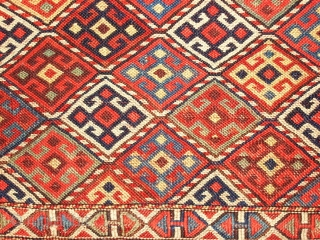 Qutshan bagface, NE-Persia, flatwoven, 50 x 51 cm, 19th c.
