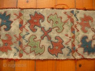 Uzbek, embroidered band fragment