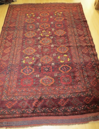 Ersari - Beshir Mina Khani rug, 150 x 210 cm, 19th c, in quite good condition, natural colors