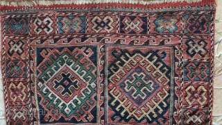 Luri - Bachtiari bagface, 19thc, very good condition, great colors