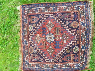 "sw Persian qash'qai bagface - almost square 21"" x 22"".  Nice condition with good pile and wool quality with small traces of silk."