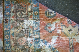 NW persian fragment - 3.5 x 9.7, glorious color and graphics, worn throughout.  $165/best offer + ship