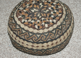 Excellent Antique Turkmen Hat, beautiful stitches and colours. Good condition.
