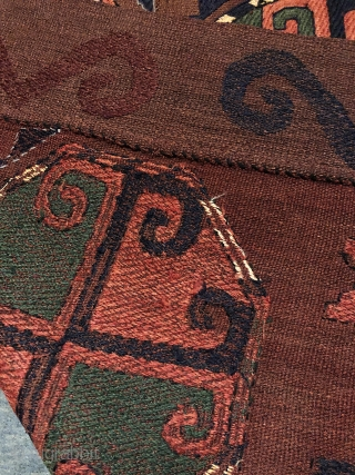 Beautiful 19th century Central Asian Uzbek Region embroidered Kilim. Excellent natural colours and good condition. The size is 120cm By 160cm.