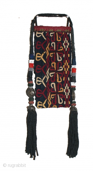 Antique Turkmen Purse, excellant natural colours and stitches. Good condition.